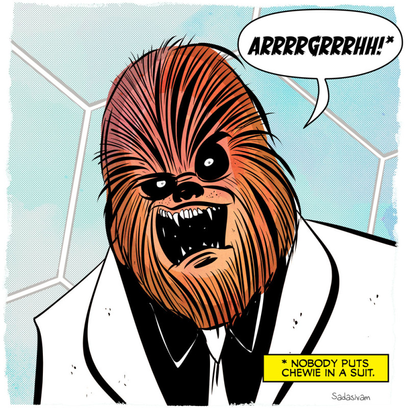 Chewbacca in a Suit