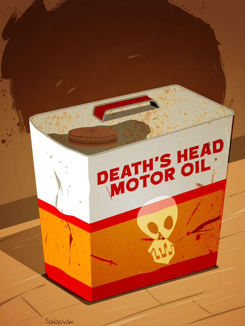 Death's Head Motor Oil