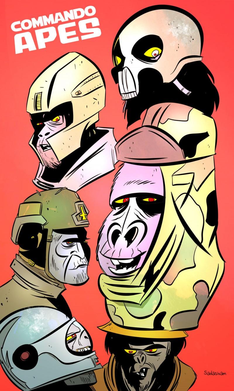 Commando Apes