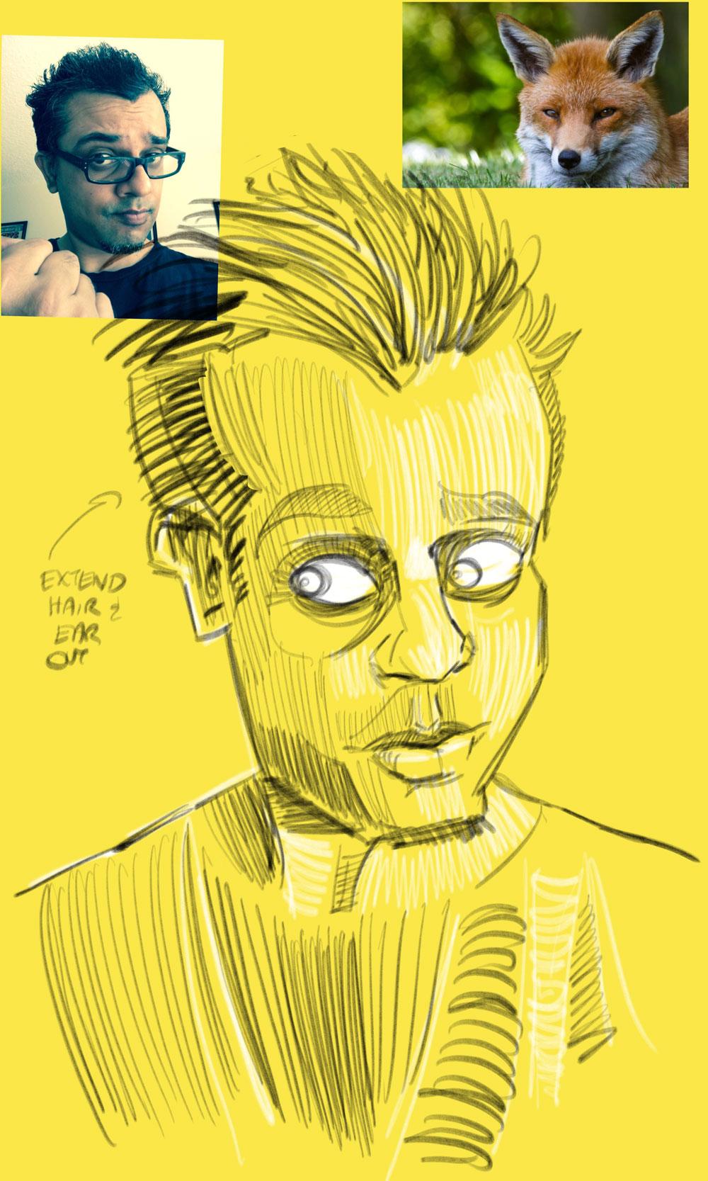 self_pencil_sketch